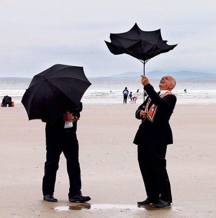 Orangemen on Rossnowlagh strand