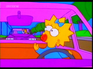 Who would you rather have driving? Little Maggie - or Homer?